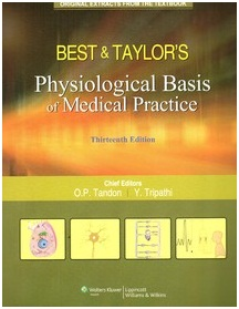 Vest-Best & Taylor's Physiological Basis Of Medical Practise